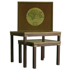 Three Stacking Tables with Atlas Tops