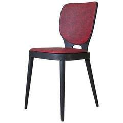 Six aesthetic movement english dining chairs after e w for Funky cafe furniture