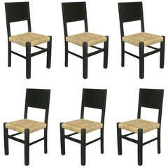 Set of Eight Chairs in the Style of Francis Jourdain
