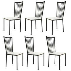Set of 6 Dining Chairs by Colette Gueden - France, 1950s