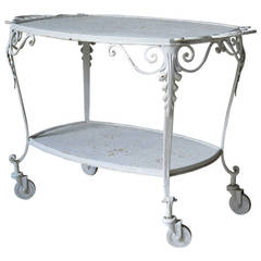 Elegant Italian 1920s Drinks Trolley