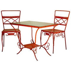 Garden Set of 2 Chairs & A Table - France, 1950s