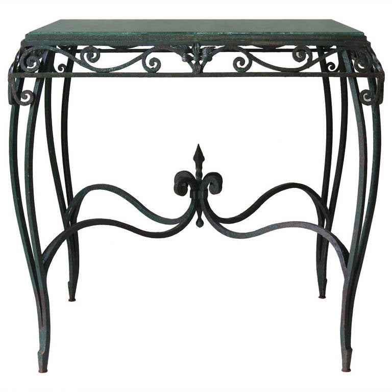 Wrought Iron and Marble Centre Table, France circa 1920s