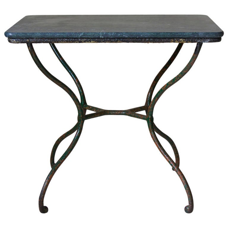Small Wrought Iron Side Table, France 19th Century 1