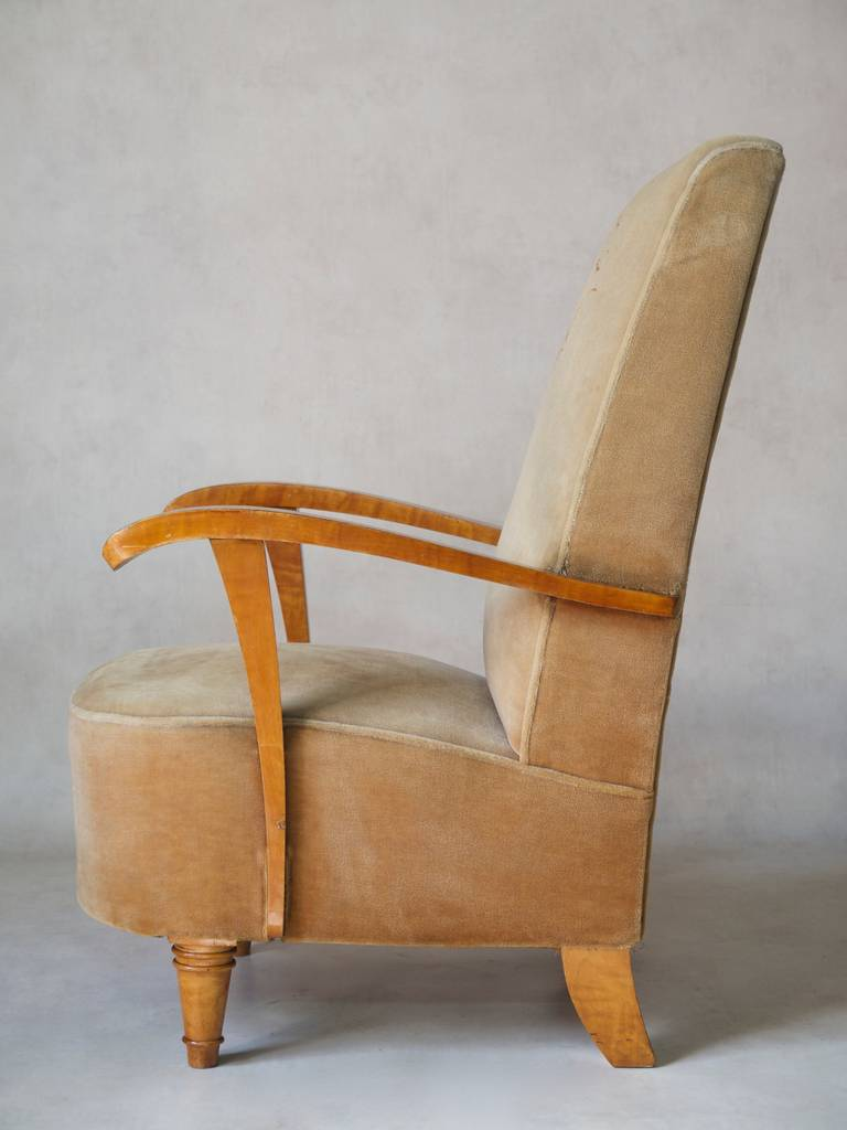 Set of Four Art Deco Armchairs, France, 1920s-1930s In Good Condition For Sale In Isle Sur La Sorgue, Vaucluse