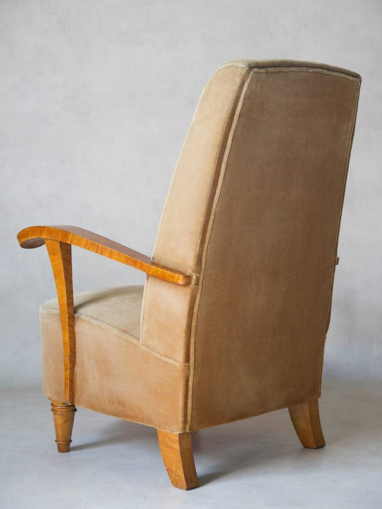 Mid-20th Century Set of Four Art Deco Armchairs, France, 1920s-1930s For Sale