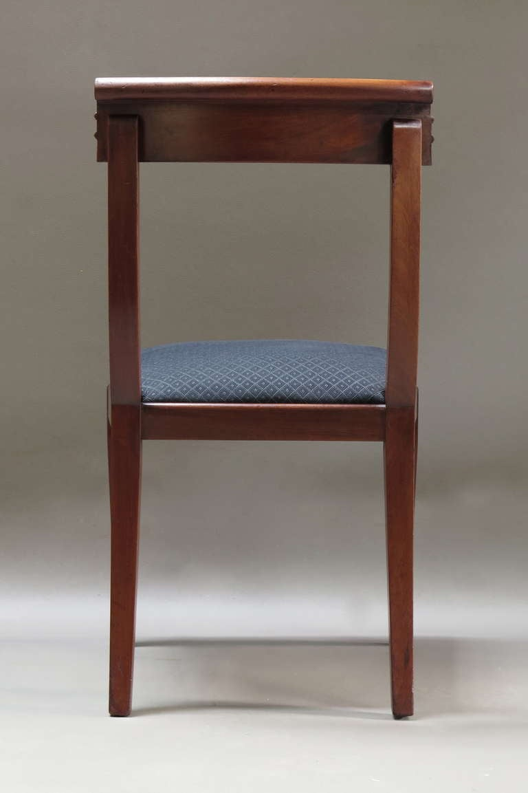 Set of Six Mahogany Dining Chairs, France, 1950s In Excellent Condition For Sale In Isle Sur La Sorgue, Vaucluse
