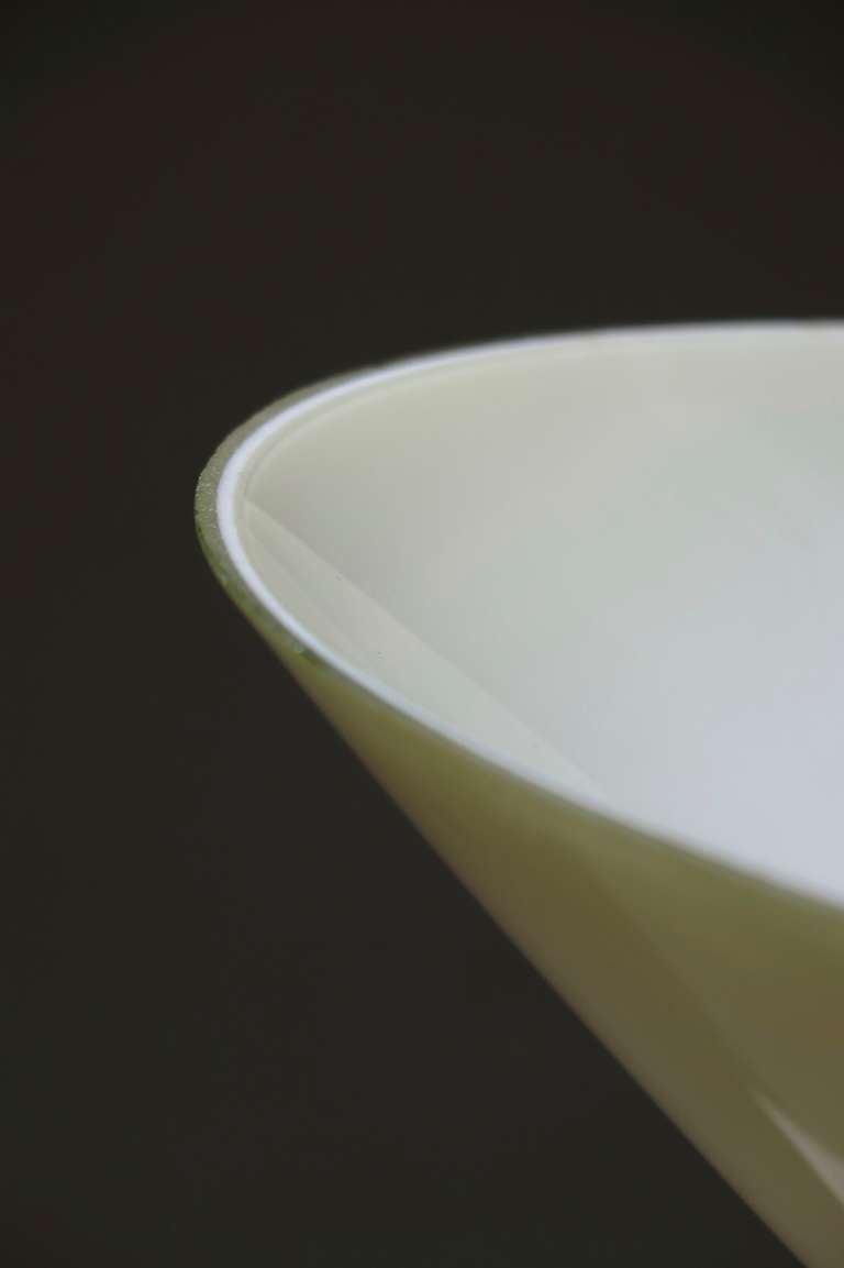 Opaline & Chrome Light Fixture - France, Mid-Century image 9