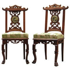 Exquisite Pair of Chairs by Gabriel Viardot - France, Circa 1890