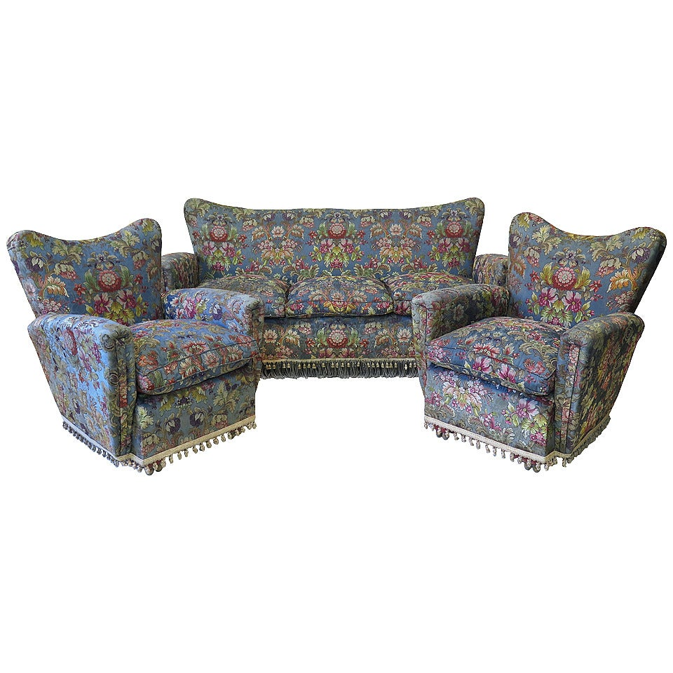 Three piece living room suite italy 1940s for sale at for Furniture 3 piece suites