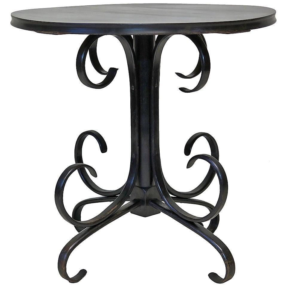 Ebonized Bentwood Table, 19th Century
