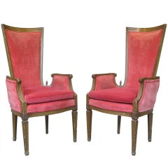 Pair of Louis XVI Style Armchairs, France, 19th Century