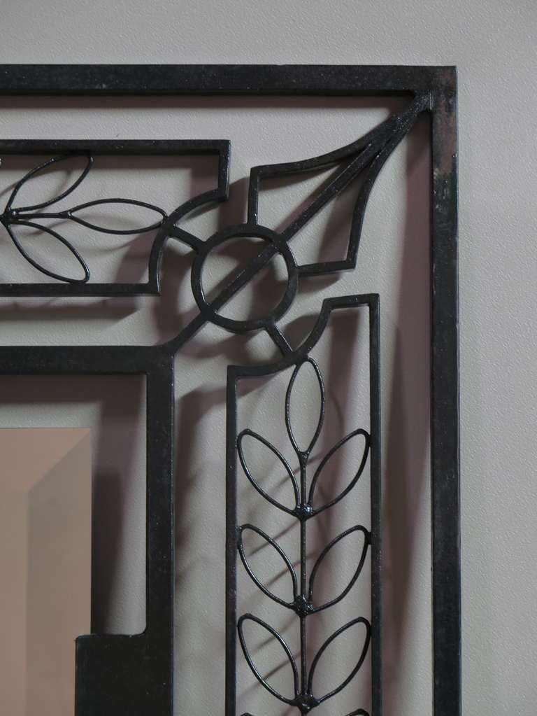 Large Wrought Iron Mirror At 1stdibs