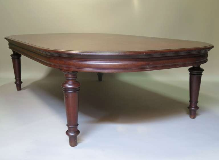 Large Oblong Mahogany Conference Table, France, 19th Century 3