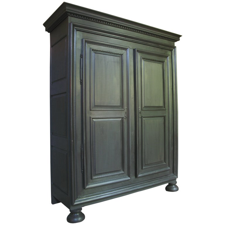 louis xiv style french armoire. Black Bedroom Furniture Sets. Home Design Ideas