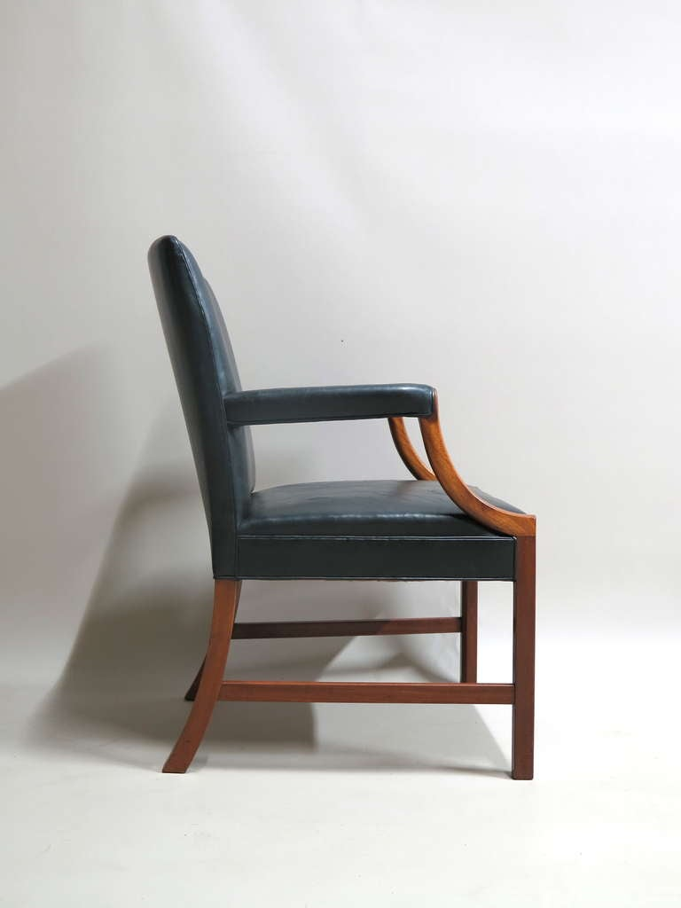 Mid-Century Modern Pair of Armchairs by Ole Wanscher - Denmark, 1940s For Sale