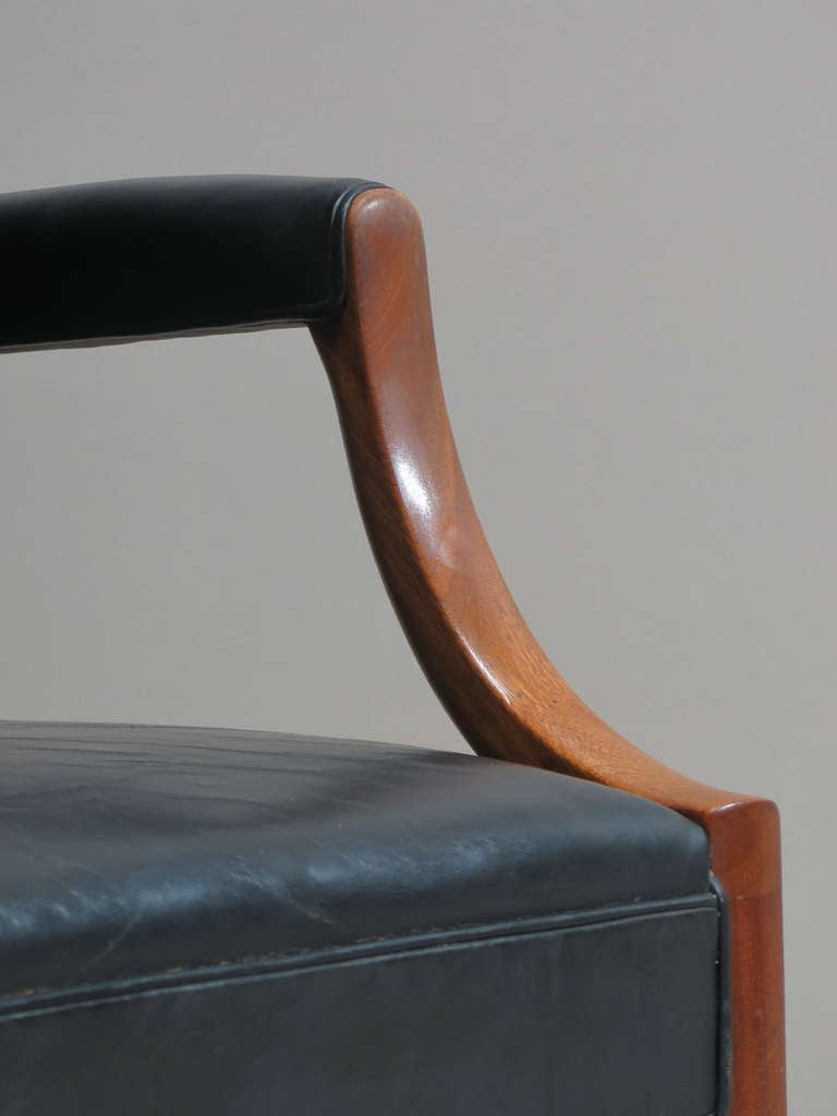 Mid-20th Century Pair of Armchairs by Ole Wanscher - Denmark, 1940s For Sale