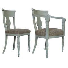 Elegant Set Of Eight Gustavian Style Chairs