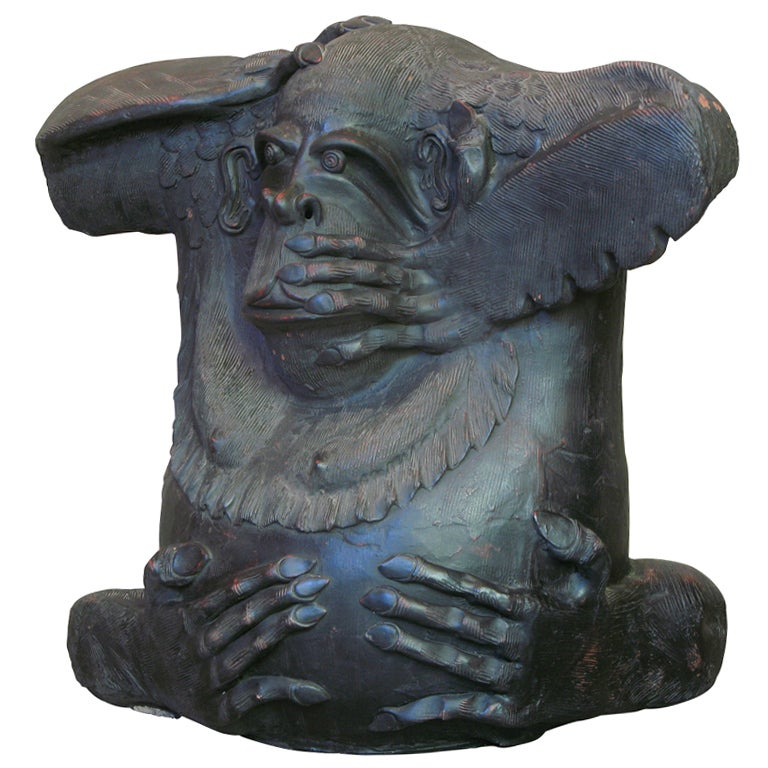 Large Terracotta Gorilla Sculpture