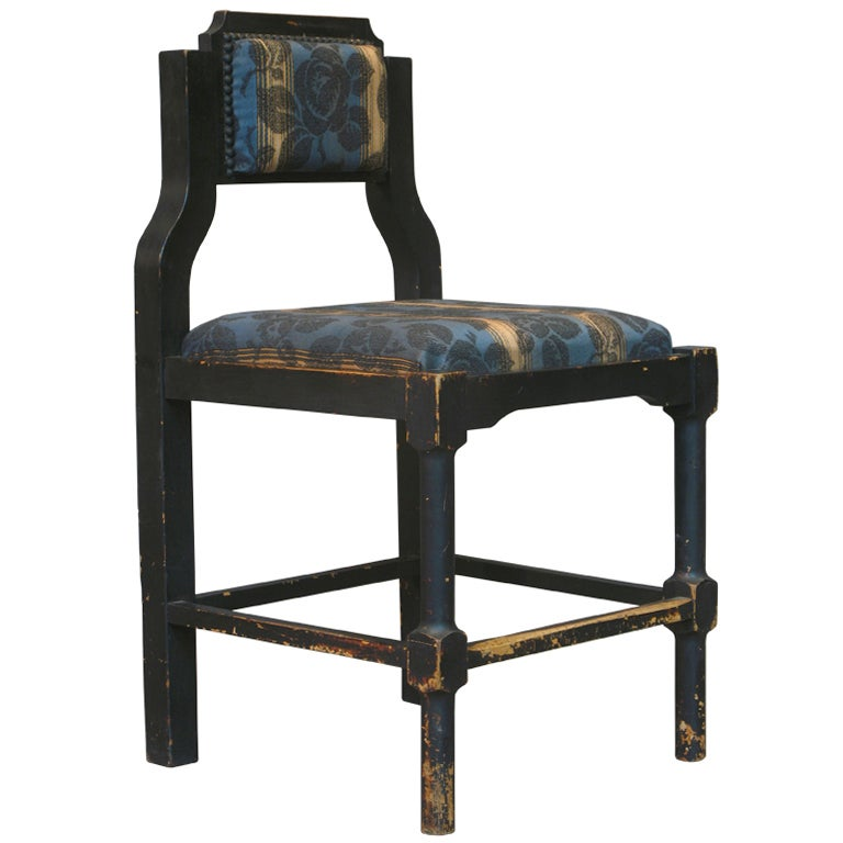 french art deco side chair for sale at 1stdibs. Black Bedroom Furniture Sets. Home Design Ideas