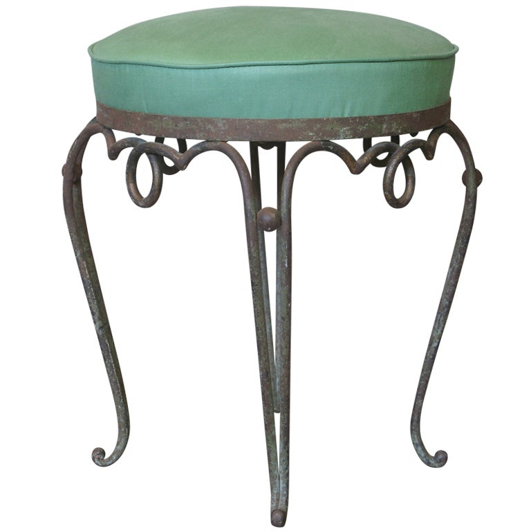 French 1940s Wrought Iron Stool Attr Ren233 Drouet at 1stdibs : XXXIMG5801 from www.1stdibs.com size 768 x 768 jpeg 46kB