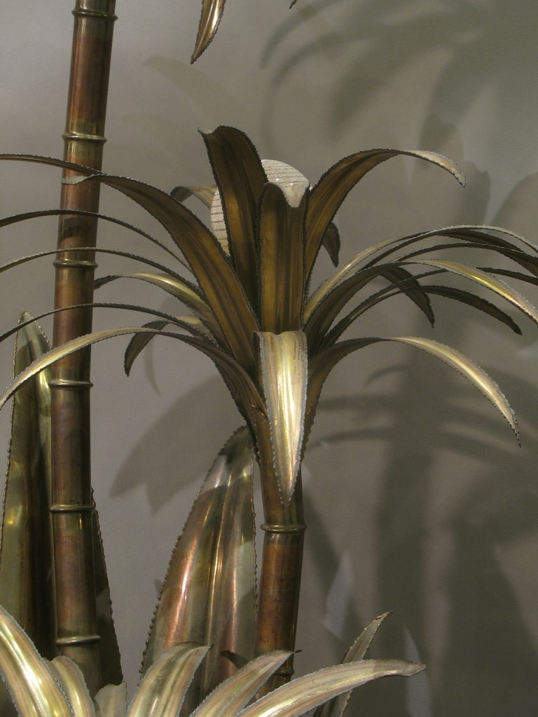 Tall palm tree lamp attributed to maison jansen at 1stdibs for Tall tree floor lamp