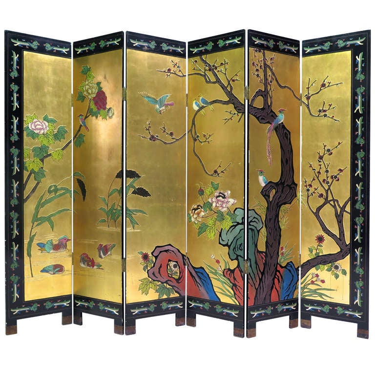 Six-Panel Coromandel Screen