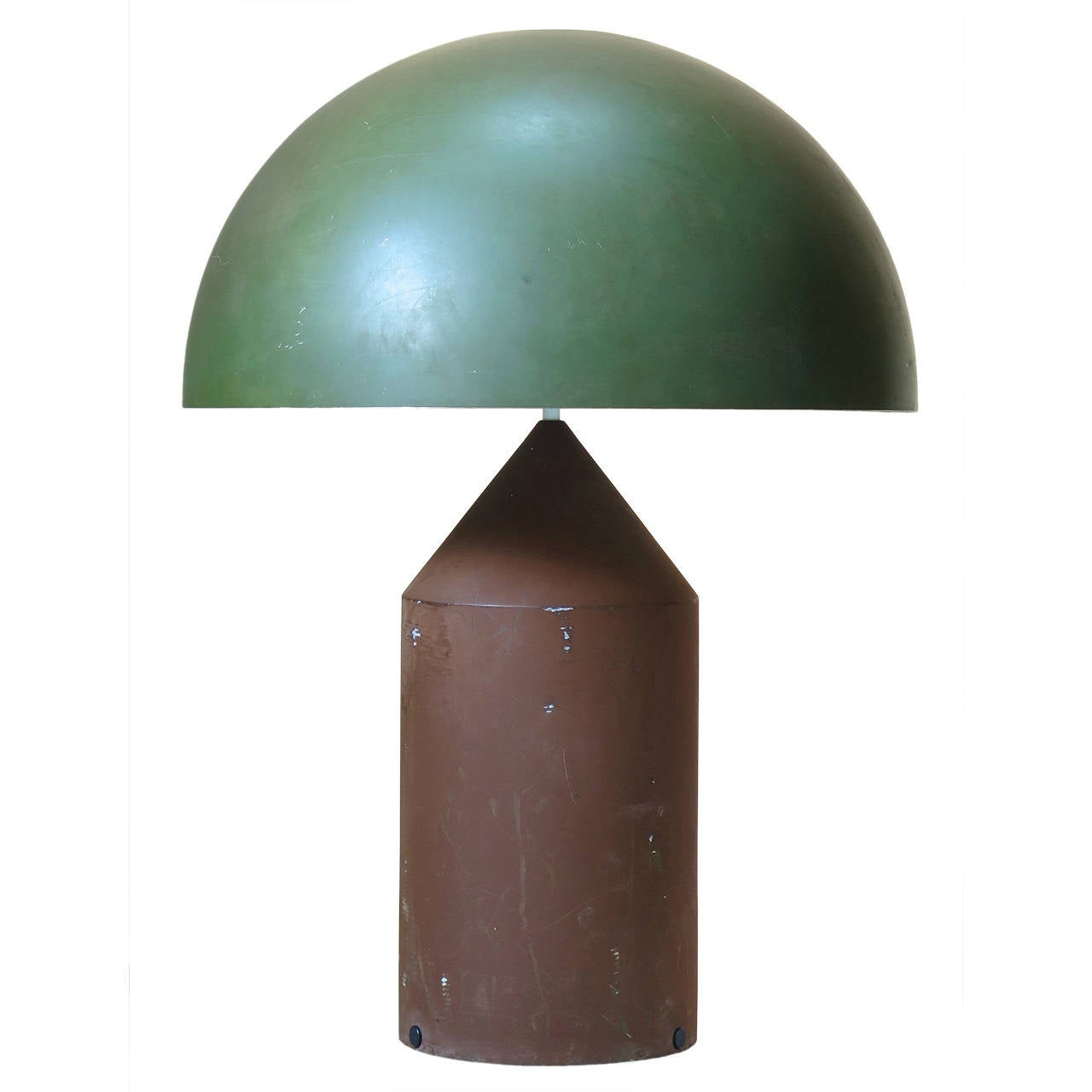 Rare Two-Tone Atollo Lamp by Vico Magistretti for O Luce