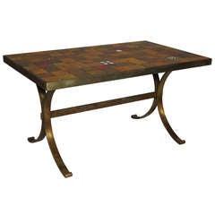 Ceramic Tile Top Table - France, 1960s