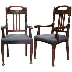 Pair of Arts & Crafts Armchairs - England, Late 19th Century