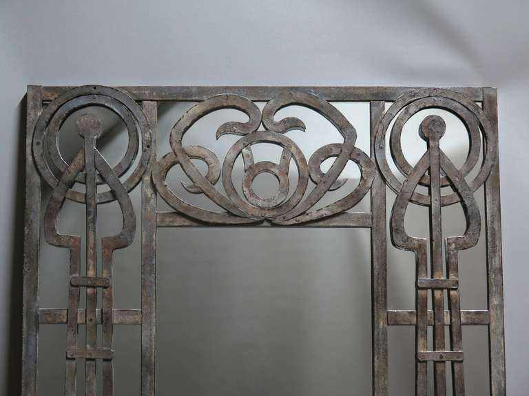 Tall pair of iron art nouveau mirrors france 1910s at for 6 foot floor mirror