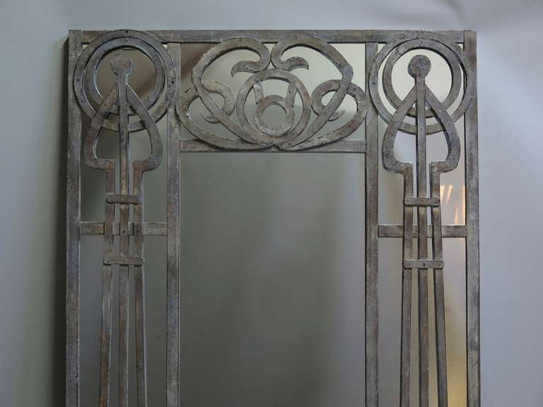 Art Nouveau Full Length Mirror