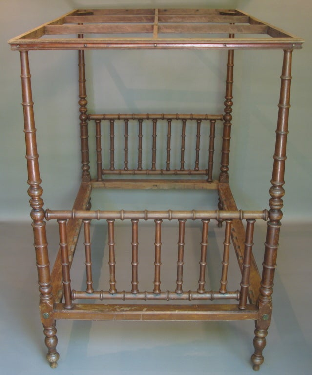 Four poster bed with canopy england 19th century for for Four poster beds sale