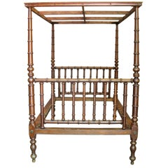Four Poster Bed with Canopy - England, 19th Century