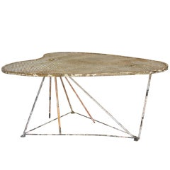 Large French 1950s Palette-Shaped Wrought Iron Dining Table