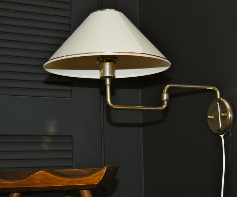Wall Lights With Adjustable Arms : Swedish Wall Light With Adjustable Swing Arm at 1stdibs
