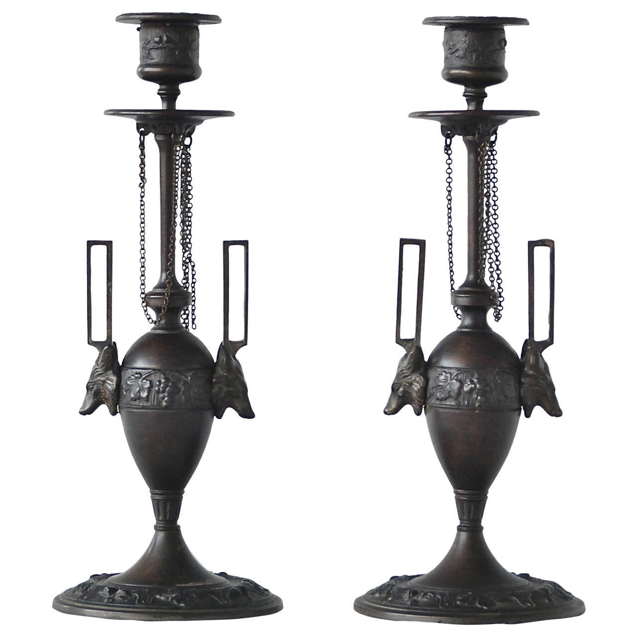 Pair of Candleholders by F. L. Vombach 1