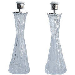 Pair of Large Table Lamps by Orrefors