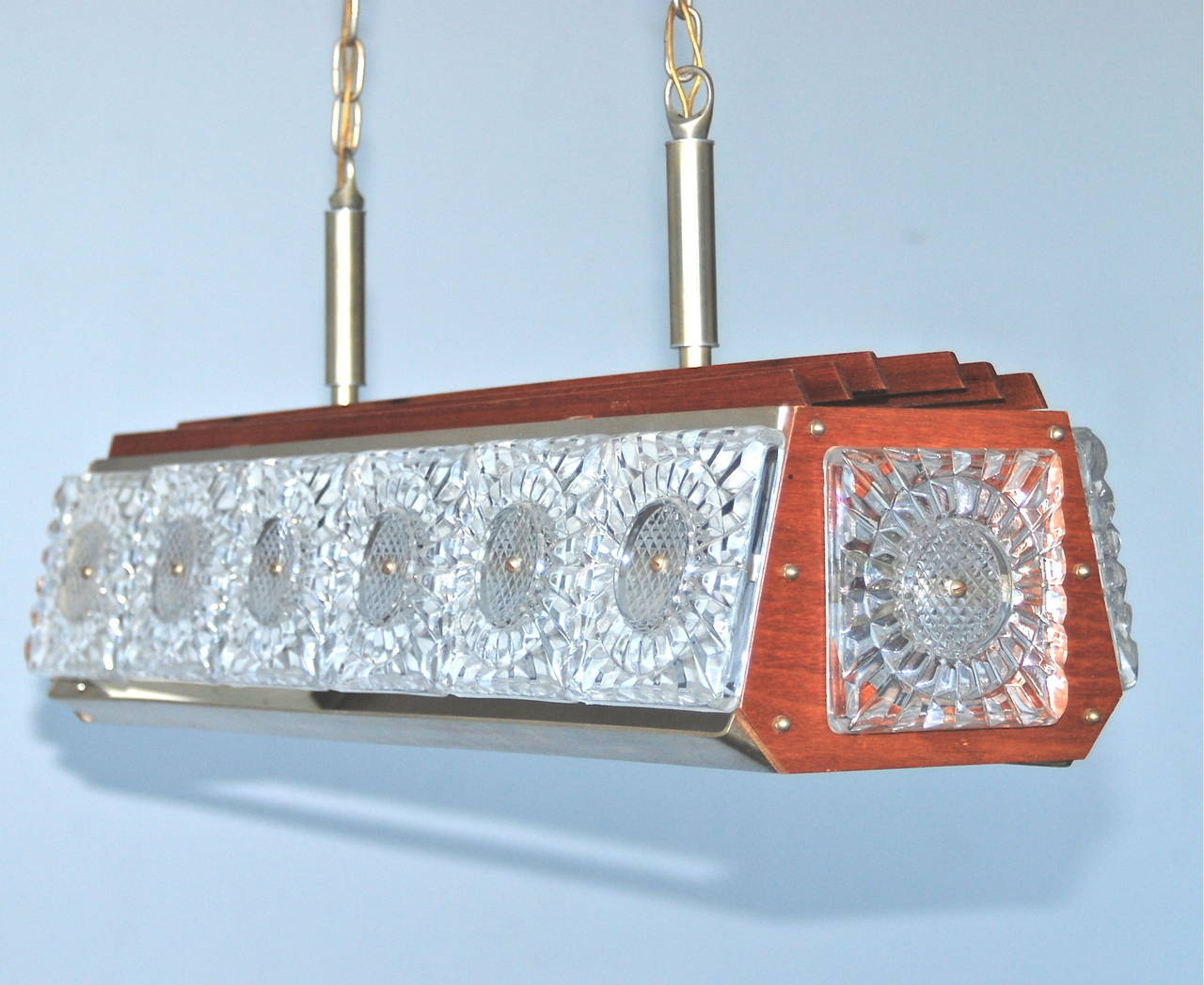 Scandinavian Modern Pendant, Orrefors Attributed For Sale