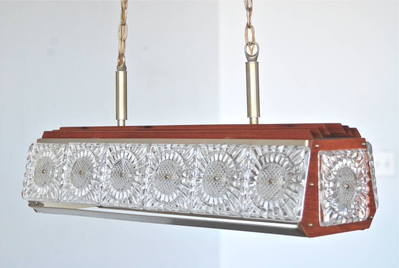 Pendant, Orrefors Attributed In Good Condition For Sale In Long Island City, NY