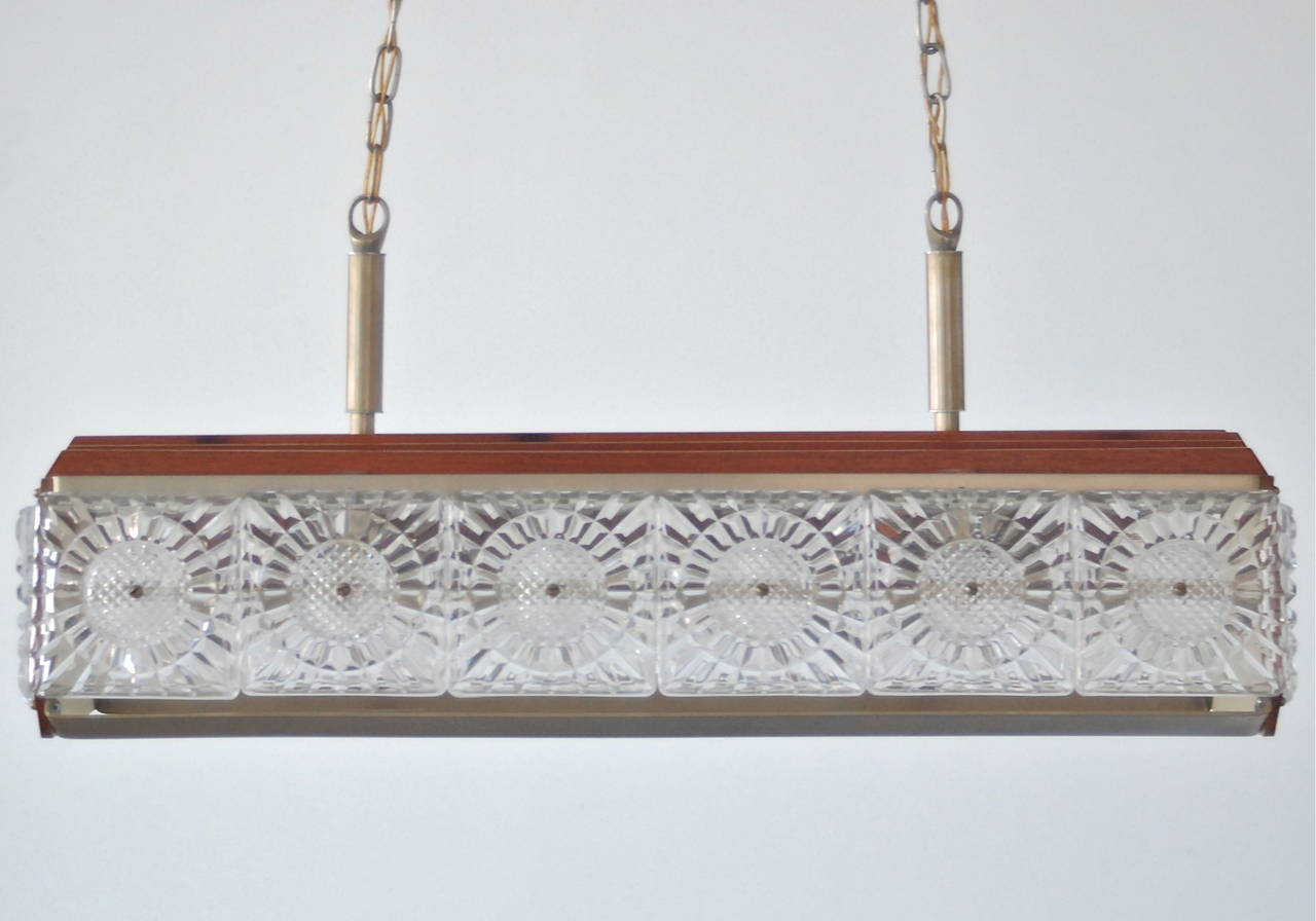 Mid-20th Century Pendant, Orrefors Attributed For Sale