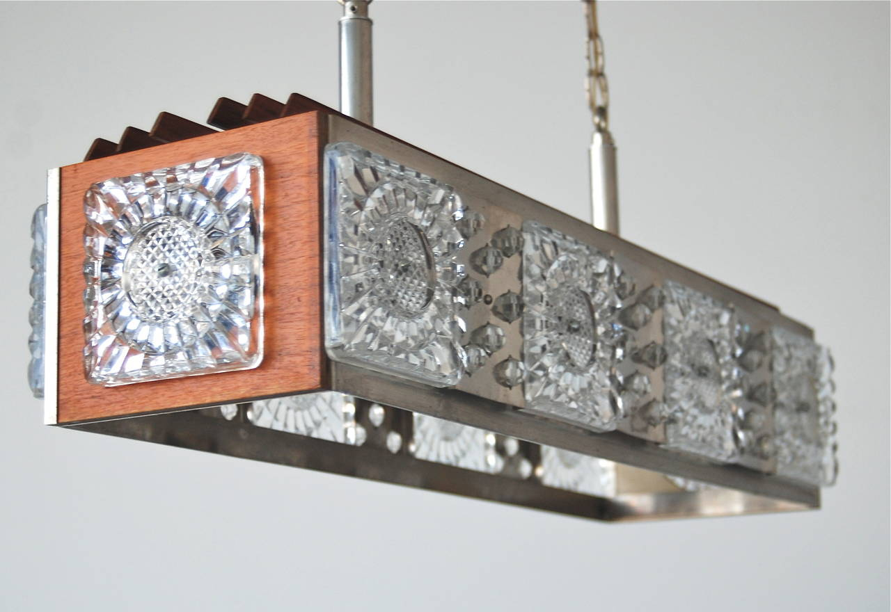 Pendant Attributed to Orrefors In Good Condition For Sale In Long Island City, NY