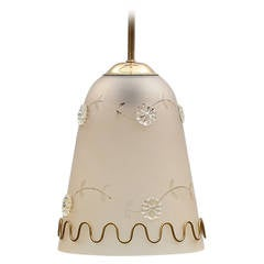 Pendant in Orrefors Style by T R & Co