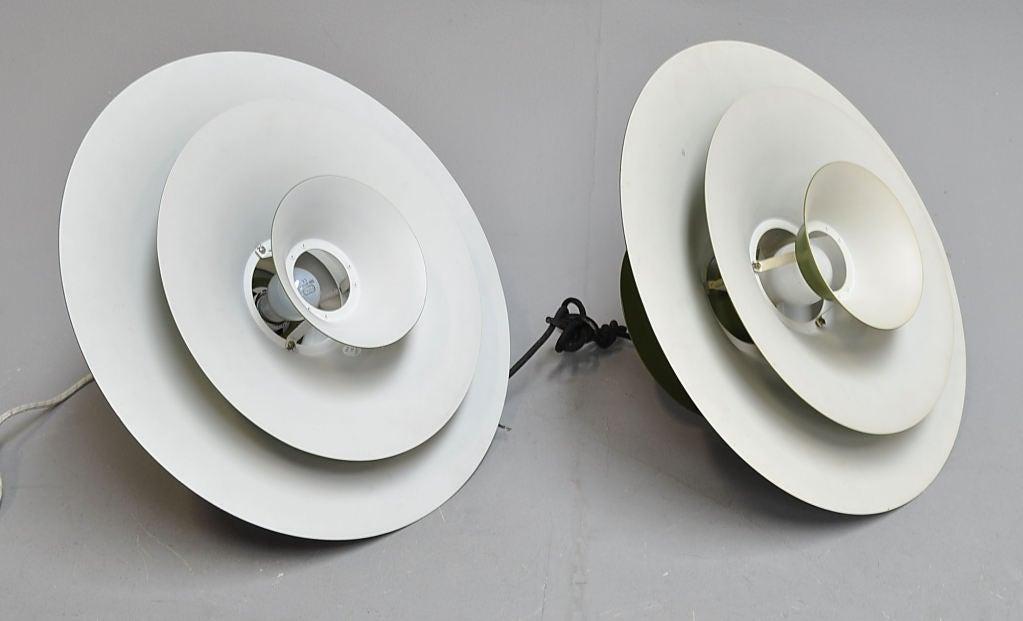 "Danish Pair of ""Radius"" Pendants by Erik Balslev For Sale"