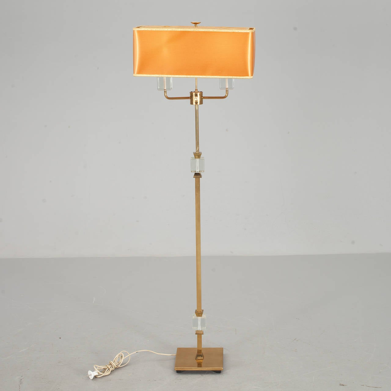 A floor lamp by Malmo metal product company, Sweden, circa 1950.