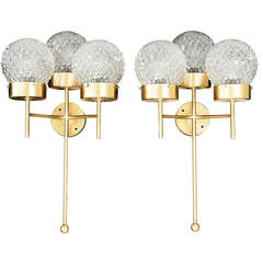 Large and Rare Pair of Wall Lights by Hans Agne Jakobsson