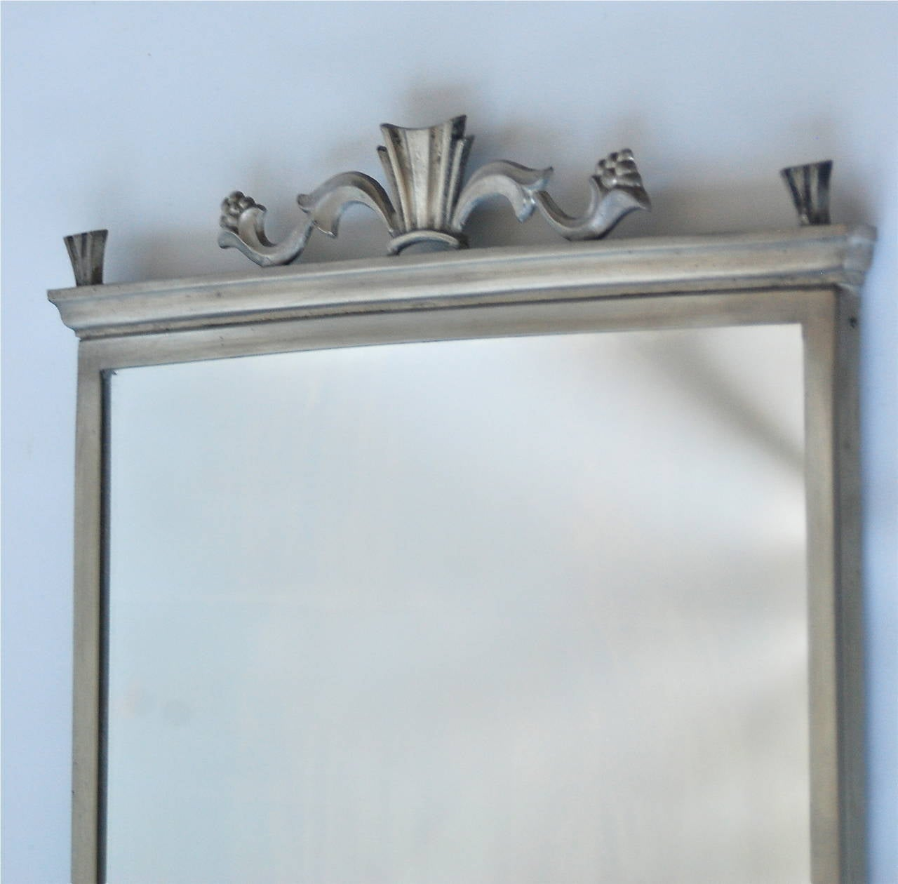 A mirror, pewter, made by Herman Bergman Art Foundry, Stockholm, 1931.