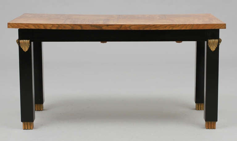 Scandinavian Modern Library Table Otto Schulz Attributed For Sale
