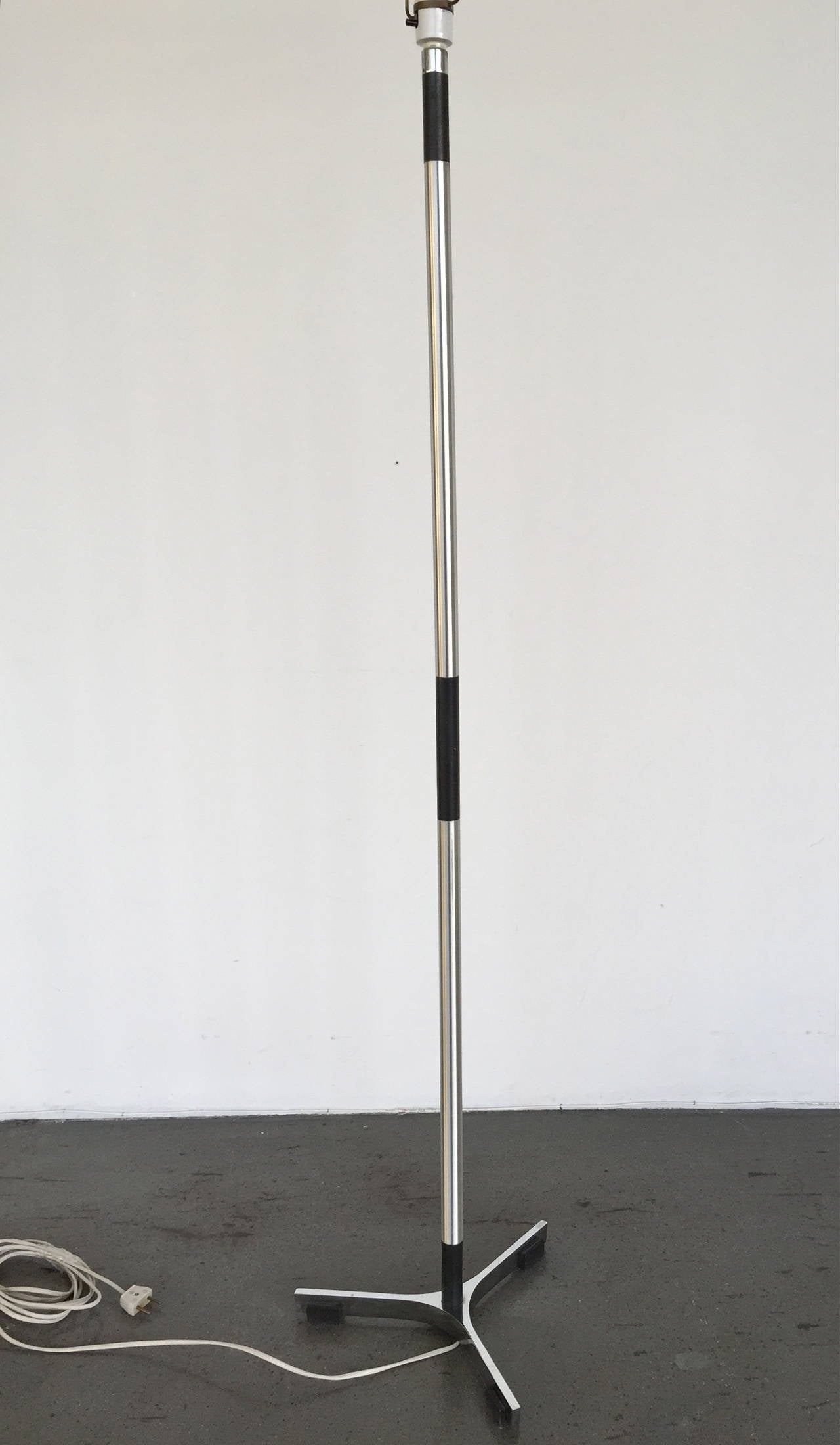 A floor lamp designed by Jo Hammerborg, Denmark, circa 1960s.