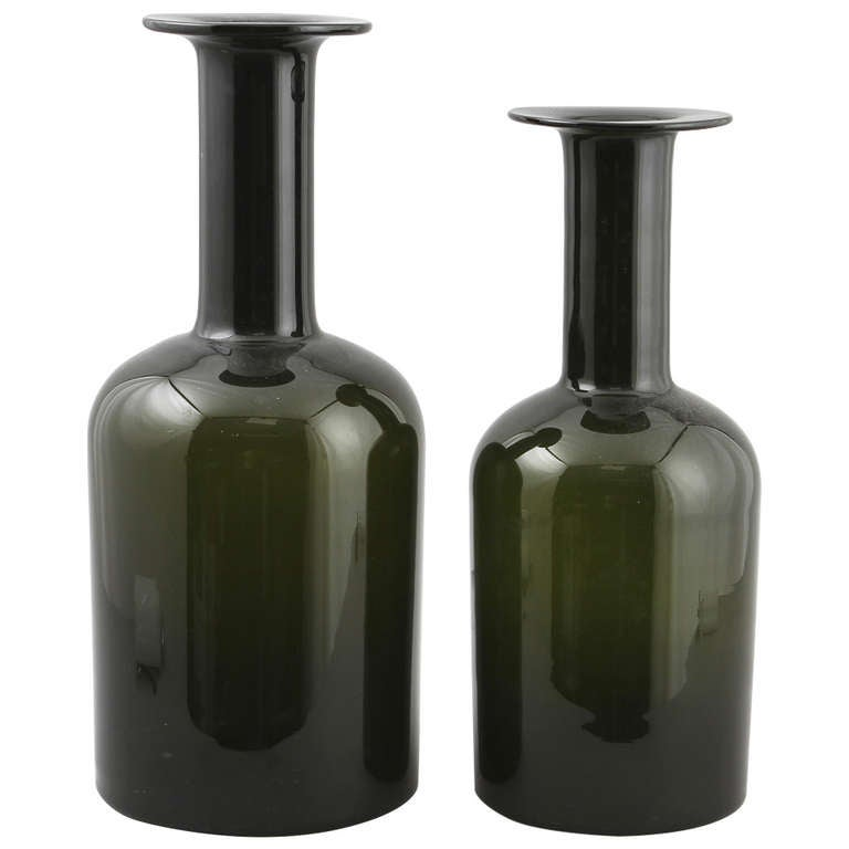 Pair of Oversized Vases Designed by Otto Brauer for Holmegaard